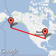 Nashville (Nashville International, BNA) - Dutch Harbor/Unalaska (Emergency Field, DUT)
