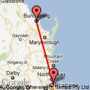 Brisbane (Brisbane International, BNE) - Bundaberg (BDB)