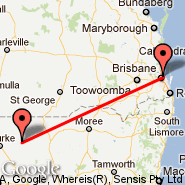 Brisbane (Brisbane International, BNE) - Brewarrina (BWQ)