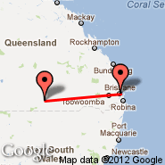 Brisbane (Brisbane International, BNE) - Cunnamulla (CMA)