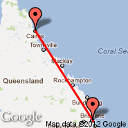 Brisbane (Brisbane International, BNE) - Cairns (Cairns International Airport, CNS)