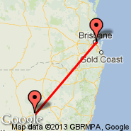 Brisbane (Brisbane International, BNE) - Coonabarabran (COJ)