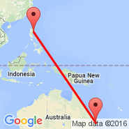 Brisbane (Brisbane International, BNE) - Cauayan (CYZ)