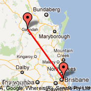 Brisbane (Brisbane International, BNE) - Gayndah (GAH)