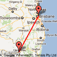 Brisbane (Brisbane International, BNE) - Glen Innes (GLI)