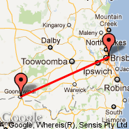 Brisbane (Brisbane International, BNE) - Goondiwindi (GOO)