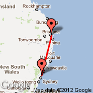 Brisbane (Brisbane International, BNE) - Gosford (GOS)