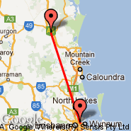 Brisbane (Brisbane International, BNE) - Gympie (GYP)