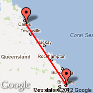 Brisbane (Brisbane International, BNE) - Innisfail (IFL)
