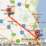 Brisbane (Brisbane International, BNE) - Kingaroy (KGY)