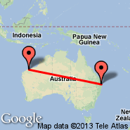 Brisbane (Brisbane International, BNE) - Karratha (KTA)