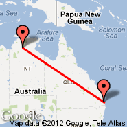 Brisbane (Brisbane International, BNE) - Katherine (Tindal, KTR)