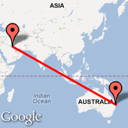 Brisbane (Brisbane International, BNE) - Kuwait City (Kuwait International, KWI)