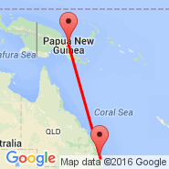 Brisbane (Brisbane International, BNE) - Lae/Nadzab (Nadzab, LAE)