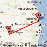 Brisbane (Brisbane International, BNE) - Lightning Ridge (LHG)