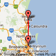 Brisbane (Brisbane International, BNE) - Sunshine Coast (Maroochydore, MCY)