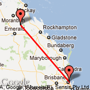 Brisbane (Brisbane International, BNE) - Middlemount (MMM)