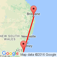 Brisbane (Brisbane International, BNE) - Moruya (MYA)