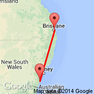 Brisbane (Brisbane International, BNE) - Nowra (NOA)
