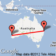 Brisbane (Brisbane International, BNE) - Perth (Perth International, PER)