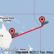 Brisbane (Brisbane International, BNE) - Pago Pago/Tutuila (International, PPG)