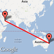 Brisbane (Brisbane International, BNE) - Riyadh (King Khaled Intl, RUH)