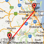 Brisbane (Brisbane International, BNE) - Stanthorpe (SNH)