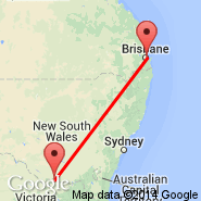 Brisbane (Brisbane International, BNE) - Tocumwal (TCW)