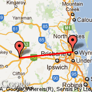 Brisbane (Brisbane International, BNE) - Toowoomba (TWB)