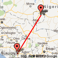 Benin City (BNI) - Abuja (Nnamdi Azikiwe International Airport, ABV)