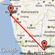 Bombay/Mumbai (Chhatrapati Shivaji International, BOM) - Puttaparthi (Puttaprathe, PUT)