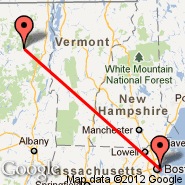 Boston (Logan International, BOS) - Lake Placid (LKP)