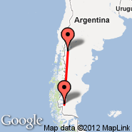 Bariloche (International, BRC) - El Calafate (Comandante Armando Tola International Airport, FTE)