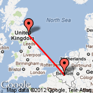 Bruxelles (Brussels Airport, BRU) - Newcastle (Newcastle Airport, NCL)