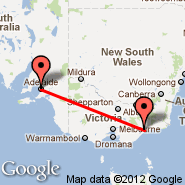 Bairnsdale (BSJ) - Adelaide (Adelaide International Airport, ADL)