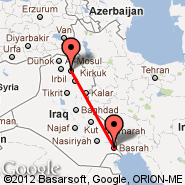 Basra (International, BSR) - Erbil (Erbil International, EBL)