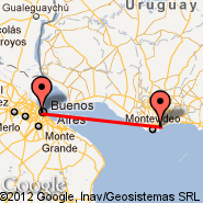 Buenos Aires (Metropolitan Area, BUE) - Montevideo (Carrasco International, MVD)