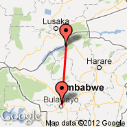 Bulawayo (Joshua Mqabuko Nkomo International Airport, BUQ) - Kariba (Kariba International Airport, KAB)
