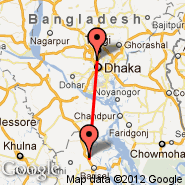 Barisal (BZL) - Dhaka (Zia International, DAC)