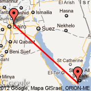 Kairo (Cairo International, CAI) - Sharm el-Sheikh (Ophira International, SSH)