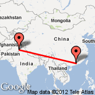 Guangzhou/Kanton (New Baiyun, CAN) - Lahore (Alama Iqbal International, LHE)