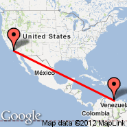 Caracas (Simon Bolivar International Airport, CCS) - Los Angeles (Los Angeles International, LAX)