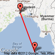 Kolkata/Calcutta (Netaji Subhas Chandra, CCU) - Port Blair/Andaman Isl. (Port Blair, IXZ)