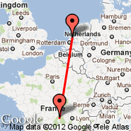 Clermont-Ferrand (Aulnat, CFE) - Amsterdam (Amsterdam-Schiphol, AMS)
