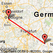 Cologne (Cologne/bonn, CGN) - Ingolstadt-manching (Manching, IGS)