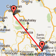 Cagayan de Oro (Cagayan De Oro Domestic Airport, CGY) - Davao (Francisco Bangoy International, DVO)