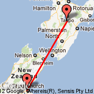 Christchurch (Christchurch International, CHC) - Whitianga (WTZ)