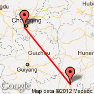 Chongqing (Chongqing Jiangbei International, CKG) - Guilin (Liangjiang International Airport, KWL)