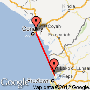 Conakry (CKY) - Freetown (Lungi International, FNA)