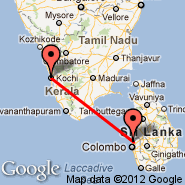 Colombo (Bandaranayake, CMB) - Kochi (Cochin International, COK)